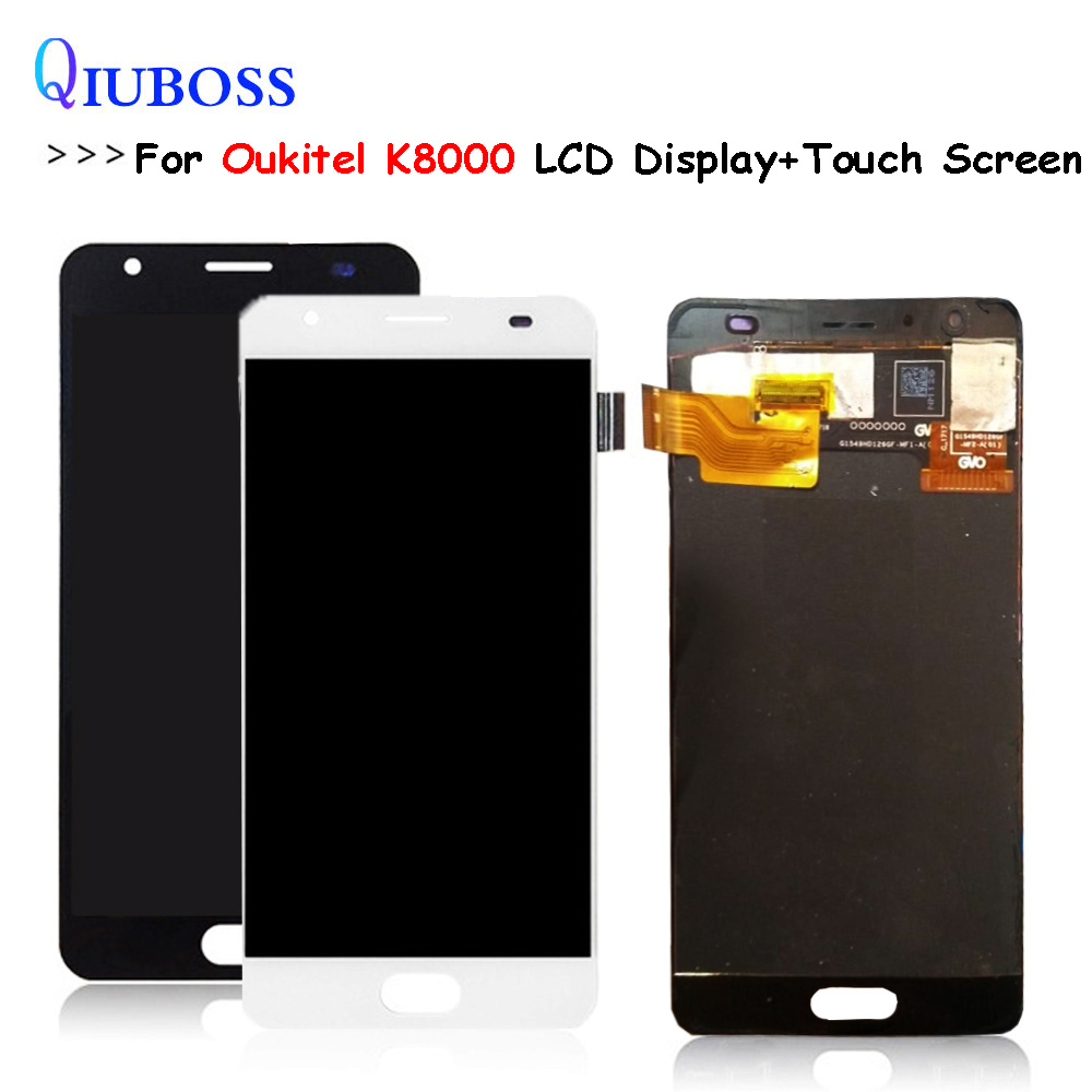 Black/White For Oukitel K8000 LCD Display+Touch Screen Assembly Repair Parts Replacement Accessories For oukitel K 8000 lcdBlack/White For Oukitel K8000 LCD Display+Touch Screen Assembly Repair Parts Replacement Accessories For oukitel K 8000 lcd