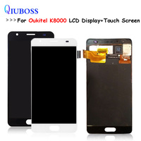 Black/White For Oukitel K8000 LCD Display+Touch Screen Assembly Repair Parts Replacement Accessories For oukitel K 8000 lcd