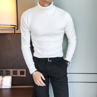 High Quality Autumn Winter Sweater Men Brand New Slim Fit Turtleneck Elastic Comfortable Long Sleeve Pullovers Mens Sweaters 3XL