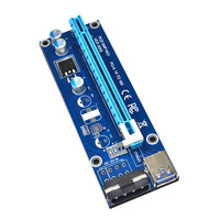 Hot USB 3 0 PCI E Express 1x To16x Extender Riser Card Adapter SATA Power Cable