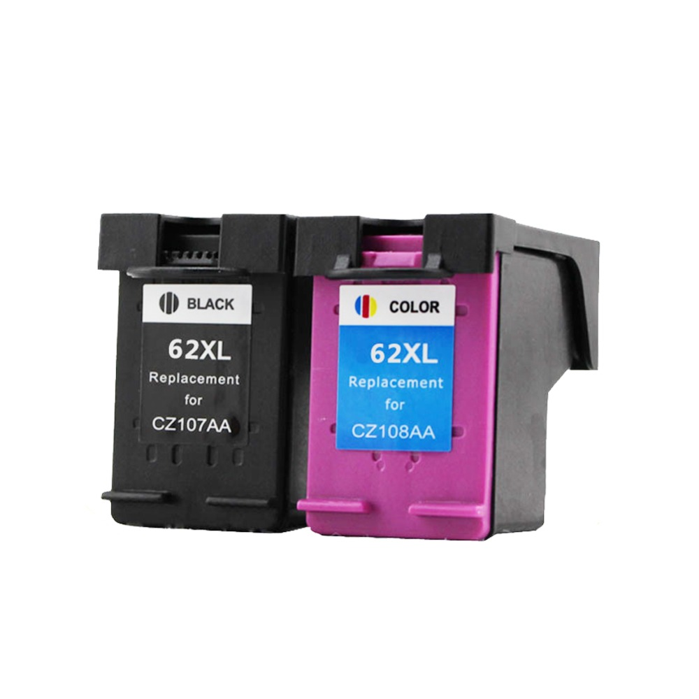2PK Compatible Ink Cartridge 62XL for hp62 62 5640 5660 7640 5540 5544 5545 5546 5548 Officejet 5740 5741 5742 5743 5744 2pk remanufactured for hp 62xl ink cartridge for hp62 inkjet cartridge used for hp envy 5640 5642 5643 5644 5646 5660 764