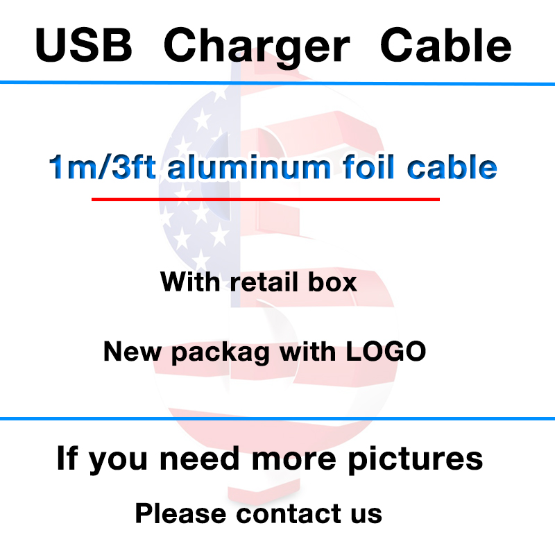200pcs OD:3.0mm 1m/3ft USB Data Sync Charger 1:1 Original Cable aluminum foil For iphone 5 6 6S 7 8 plus X XR XS MAX With box-in Mobile Phone Chargers from Cellphones & Telecommunications    1