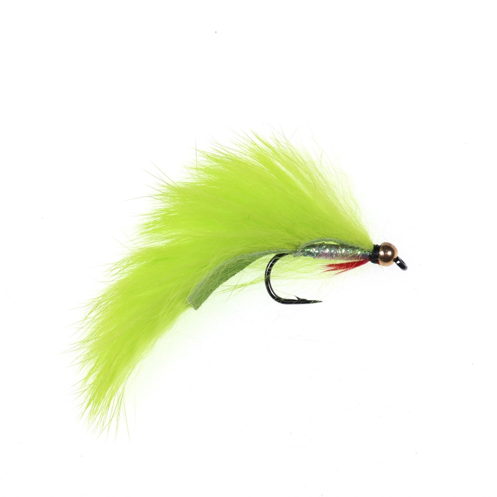 6 Pack Pink Tiger Zonker Trout Flies Size 10 Hook Zonkers For Fly Fishing