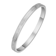 New Arrive Never Fade 316L Stainless Steel Engraving Number Bracelet Bangles Fashion Jewelry Bijoux(China)