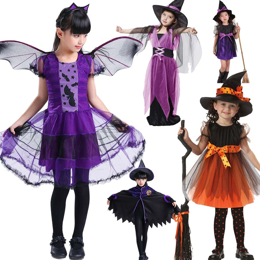Halloween Costume for Child Party Cosplay Children Girls Kids Witch Costume for Girls Halloween Costume Child Party Witch Dress