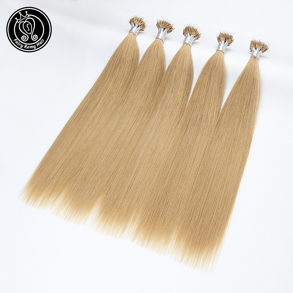 Nano Ring Tip Human Hair Extensions Keratin Micro Beads Real Remy Pre Bonded Hair 16