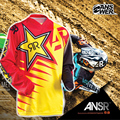 Novo produto 2015 resposta rockstar moto jersey mx mtb off road mountain bike dh bicicleta moto jersey dh bmx motocross jersey bicicleta