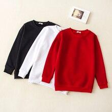 Детская одежда; осенний модный свитер для маленьких мальчиков и девочек; хлопковые толстовки с длинными рукавами и круглым вырезом; детская одежда; От 0 до 12 лет