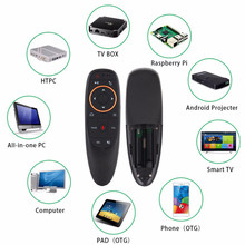 G10 Voice Remote Control 2.4G Wireless Air Mouse Microphone Gyroscope IR Learning for Android tv box H96 Max h96 mini ir learning air mouse backlit with voice microphone 2 4g wireless mini keyboard with ir learning extend remote controller