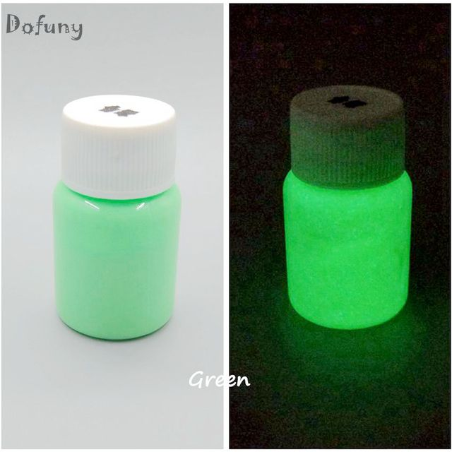 Green Luminous Body Paint Glow Painting Fluorescent Lacquered Photoluminesous In