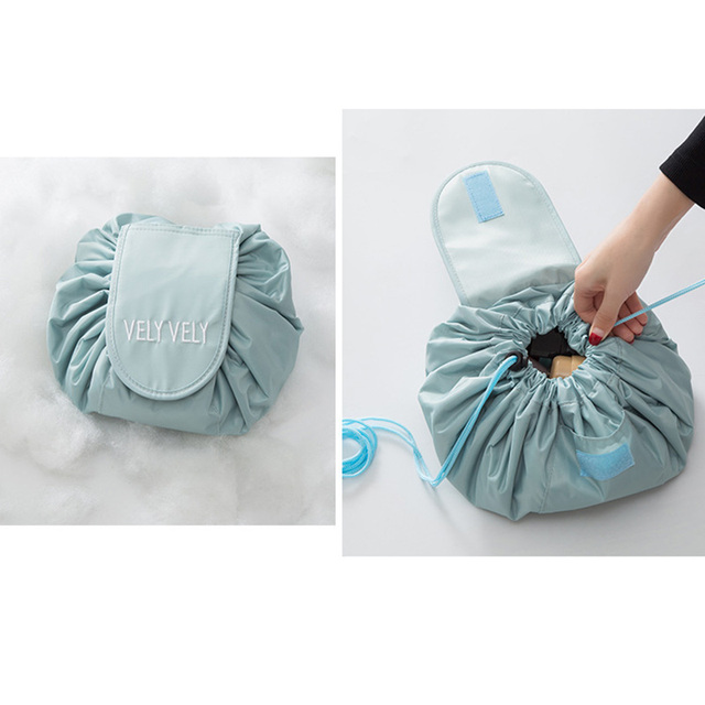 HMUNII Creative Lazy Cosmetic Bag Large Capacity Portable Drawstring Storage Artifact Magic Travel Pouch Simple Cosmetic Bag 5