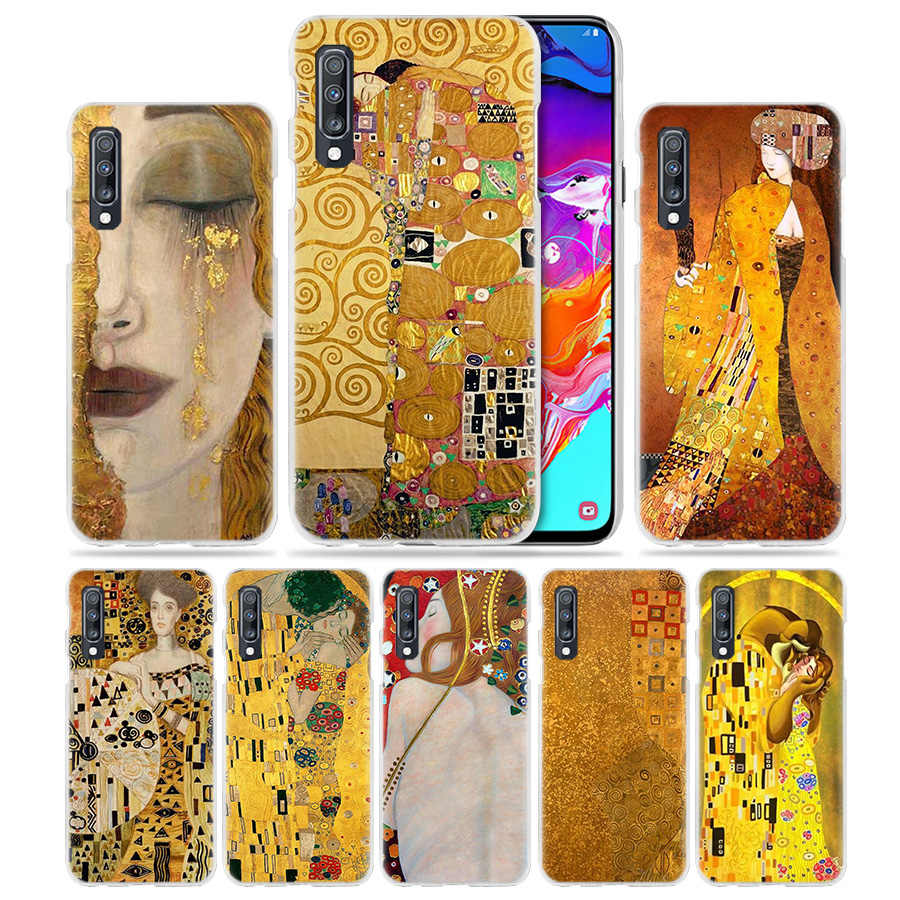 Nụ Hôn Gustav Klimt Ốp Lưng Dành Cho Samsung Galaxy Samsung Galaxy A50 A70 A20e A40 A30 A20 A10 A8 A6 Plus A9 A7 2018 cứng Trong Suốt Điện Thoại Máy Tính Coque Bao Hot