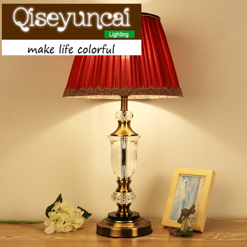 Qiseyuncai European Romantic Warm Light LED Desk Lamp