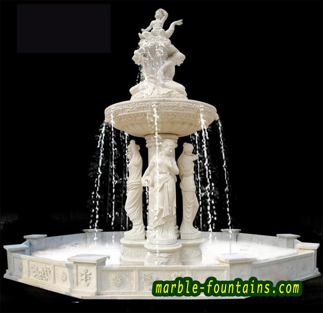 sculpture yard fountains white marble garden fountain with statues