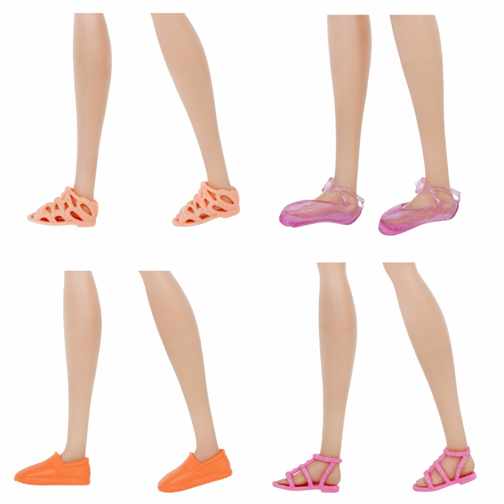 High Quality Fashion Mini Flat Shoes Cute Mixed Style Colorful Casual Sandals Ballet Dance Shoes Accessories For Barbie Doll Toy