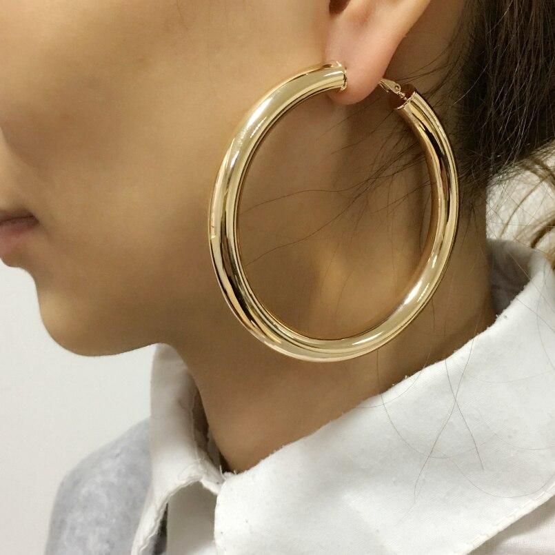 UKEN 2019 Punk Fashion 70mm Diameter Wide Big Hoop Earrings For Women Statement Earrings Brincos Jewelry Accessories