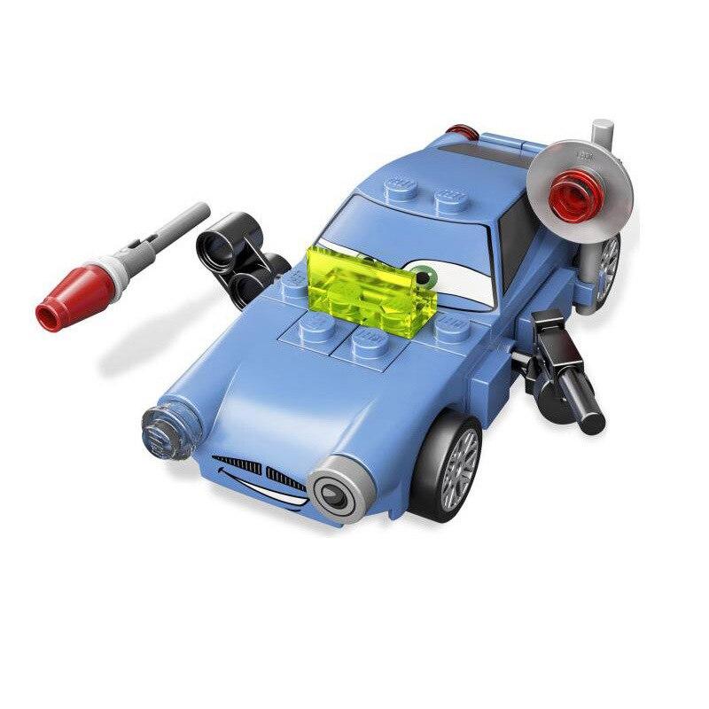 BELA 10004 PIXAR CARS 2 PIXAR Cars Mack Cartoon Cars Finn DIY Model font b Block