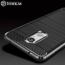TOMKAS Carbon Fiber Phone Cases For Xiaomi Redmi 5 Case Silicone Soft Fashion TPU Back Cover Xiaomi Redmi 5 Plus Case Coque Capa(China)