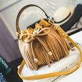Hot Fashion small bag 2017 casual tassel bucket bag shoulder bag women's handbag messenger bag