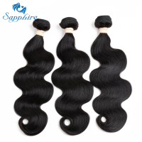 Sapphire Remy Hair Brazilian Body Wave Hair Bundles 7A Brazilian Human Hair 8 28inch Natural Color
