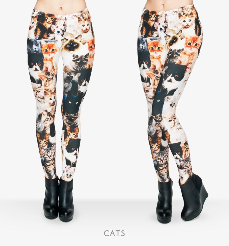 Cats 3D Full Printing Punk Leggings