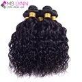 Mslynn peruano virgem cabelo natural wave 4 bundles, peruano curly virgem cabelo molhado e ondulado do cabelo humano bundles macio cabelo peruano