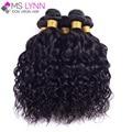 Mslynn peruano virgen onda natural del pelo 4 bundles, peruana virginal del pelo rizado mojado y ondulado del pelo humano bundles soft pelo peruano