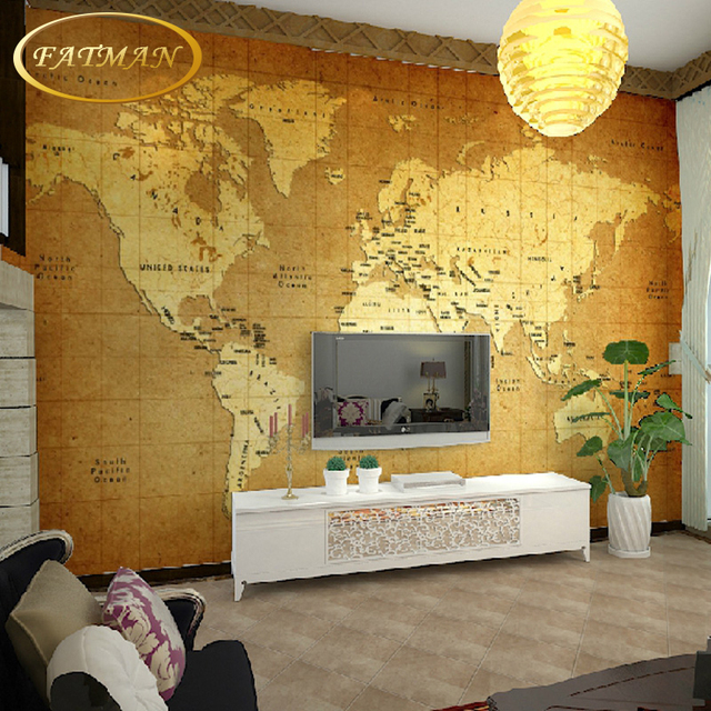 Custom 3d photo wallpaper vintage nautical world map wallpaper hotel custom 3d photo wallpaper vintage nautical world map wallpaper hotel bedroom tv background wallpaper papel de gumiabroncs Image collections