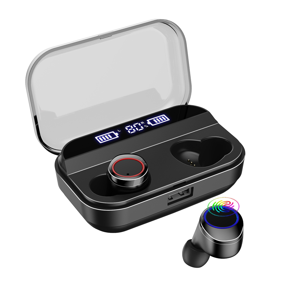 Bluetooth Earphones True Wireless Earbuds <font><b>TWS</b></font> <font><b>5.0</b></font> Sports Earphones Stereo Bass Headset Noise Cancelling For Phones Charging Box image
