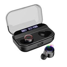 Bluetooth Earphones True Wireless Earbuds TWS 5.0 Sports Earphones Stereo Bass H