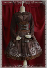High Quality Vintage Style Steampunk Lolita Dress Embroidered  JSK Lolita Cosplay Costumes