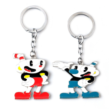 2 Colors Game Cuphead Keychain Metal Alloy Cup Head Pendant Key Ring Car Anime Chain Holder for Women Men Creative Gifts