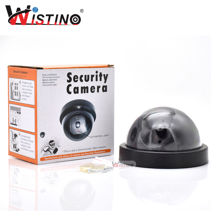 Wistino Fake Dummy Camera Indoor Outdoor Simulated Video Home Security Surveillance IR Led Fake Camera Monitor Warning Stricker fake dummy security camera cctv surveillance system with realistic simulated leds outdoor indoor for home cam warning sticker