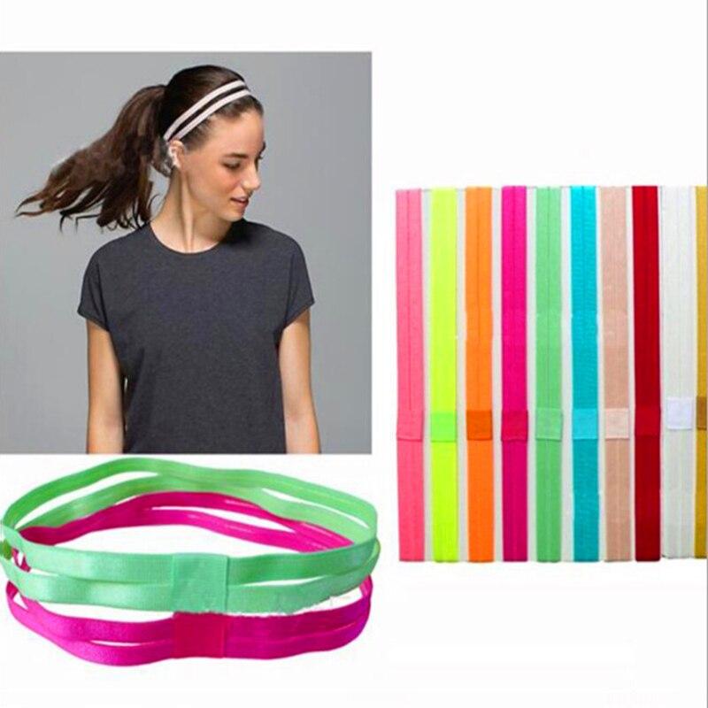 Fashion Candy Color Sport Headband For Women Elastic Hair Band Head Wrap Yoga Running Football Tennis Cycling Headdress   Headwear