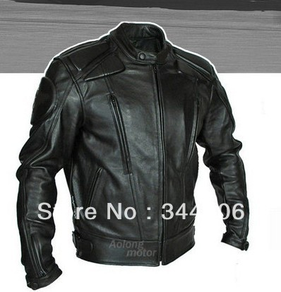 Free shipping New Cool HOT PU mandarin collar Mens Black Solid Leather Motorcycle Biker Jacket. Sizes S To XXL