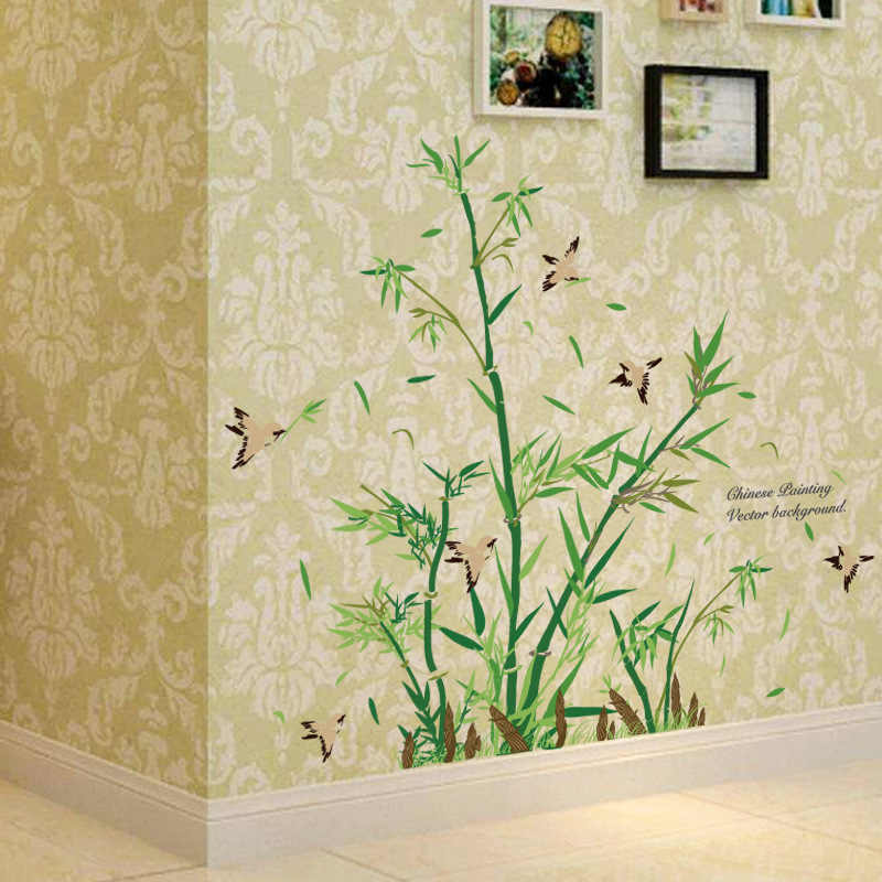 Detail Feedback Questions About New Little Bamboo Shoots Tree Wall