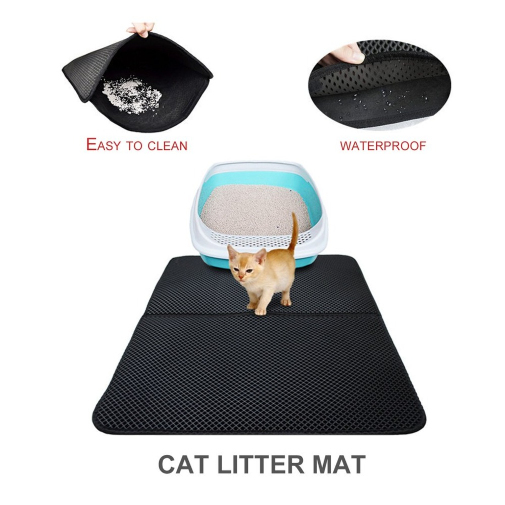 High Elastic Foldable Pets Cats EVA Mat Pads Large Size Non Slip Waterproof Cat Litter Mat Trapper Pad for Household Use