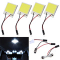 48 led SMD LED COB Car Panel luz Room Interior Dome Light Car Lámpara del Bulbo ja22