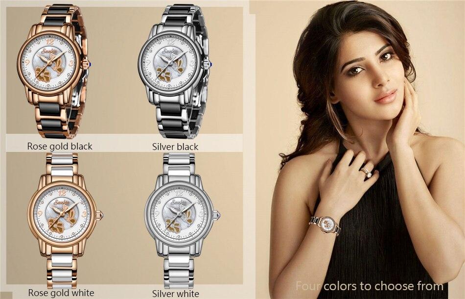 Relógios de quartzo Da Forma Das Mulheres