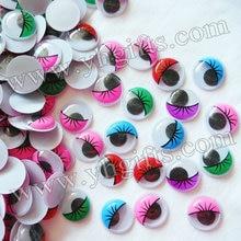 500PCS LOT 2cm colorful eyelash wiggle eyes Plastic eyeball Doll eyes Craft material Handmade toys Craft