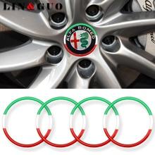 4 шт. Декоративные наклейки для центра ступицы колеса автомобиля подходят для alfa romeo 159 147 156 giulietta 147 159 mito аксессуары