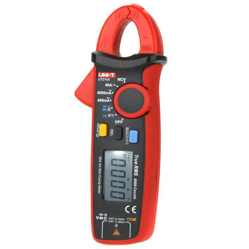 New Style UNI-T 1set High Resolution UT211A True RMS Mini Clamp Meters Auto Range V.F.C. NCV Capacitance Tester uni t ut216c 600a true rms digital clamp meters auto range w frequency capacitance temperature