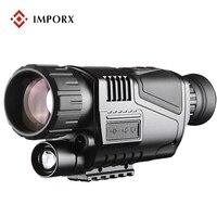 5x40 инфракрасный Ночное видение Камера Водонепроницаемый военно тактические цифрового видео Выход ночного видения Монокуляр охота Камера