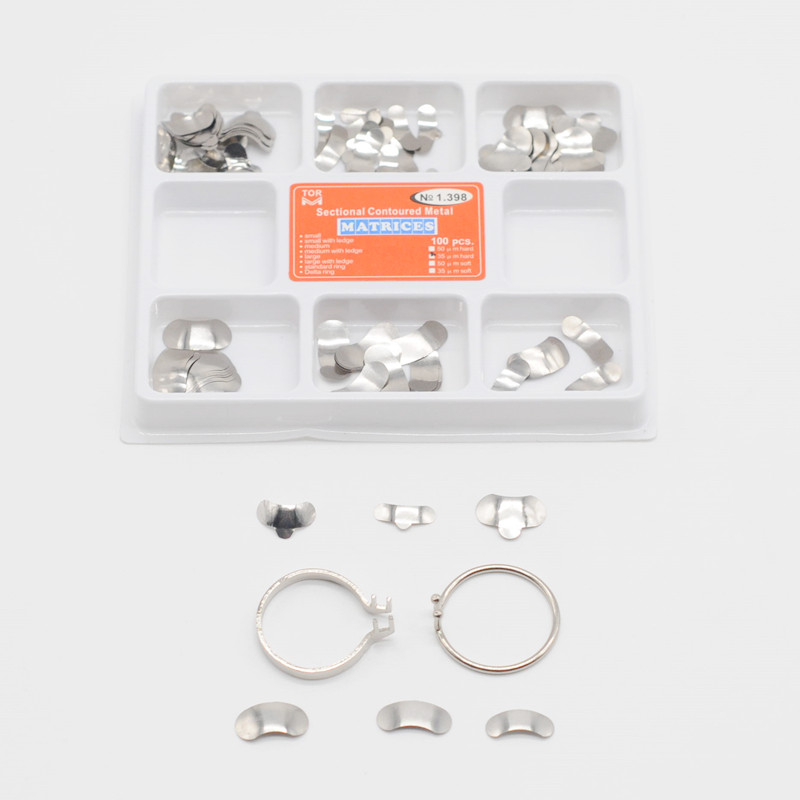 Dental Matrix Sectional Contoured Metal Matrices No 1 398 Full Kit For Dentistry Supplies in Teeth Whitening from Beauty Health