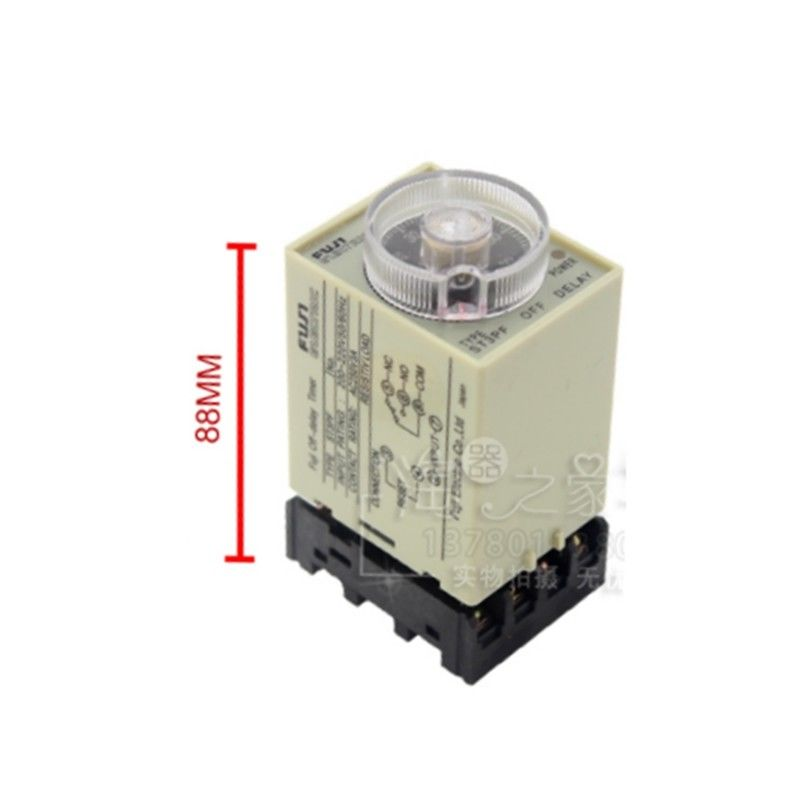 ST3PF Power Off Delay Timer Time Relais 0-10 m avec base PF083A 12-380 V