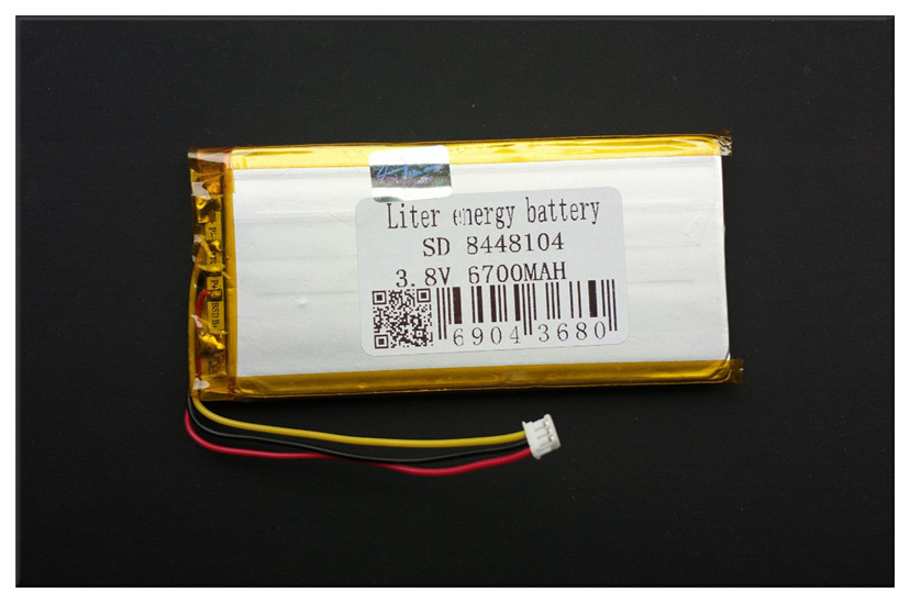 3 thread 8448104 3.7V 6700MAH (polymer lithium ion battery) Rechargeable batteries Li-ion battery for tablet pc rechargeable batteries 3 7v 3000mah polymer lithium li ion battery for tablet pc 7 inch mp3 mp4 3553110