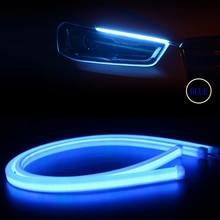 2pcs Blue 60cm Flexible DRL Car Daytime Running Lights Angle Eyes LED Strip Light Headlight For BMW E46 E39 M5