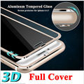 "Protector de pantalla frontal transparente para iphone 6 cubierta de vidrio templado completo 4.7 ""3d borde curvo titanium película protectora de cobertura total"