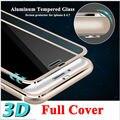 "Protetor de tela frontal transparente para iphone 6 vidro temperado cobertura completa 4.7 ""3d curvo borda titanium película protetora cobertura completa"