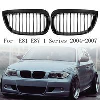 for BMW E87 E81 1 Series 2004 2007 Pair Left & Right Car Front Sport Kidney Grill Grilles Matt Black
